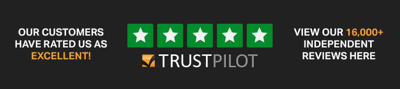 Our customers have rated us as excellent. View our 16000+ independent reviews here