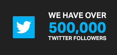 Over 550,000 followers on Twitter